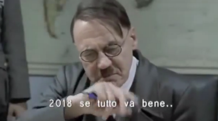 Video Hitler che si incazza per la metro di roma